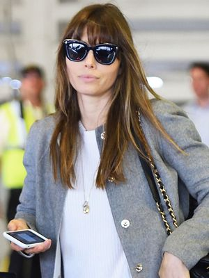 Jessica Biel Chose the Best Shoes for the Airport