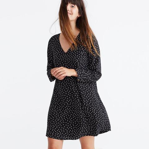 Silk Button-Back Dress