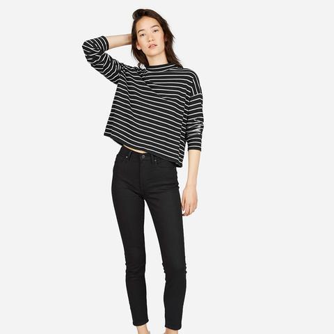 Square Mockneck Tee Sweater