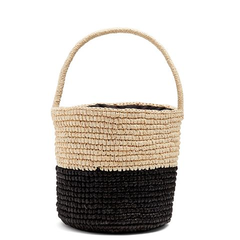 Bi-Colour Toquilla-Straw Basket Bag