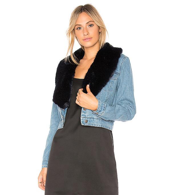 Mia Faux Fur Jacket. - size XS (also in S,M,L)