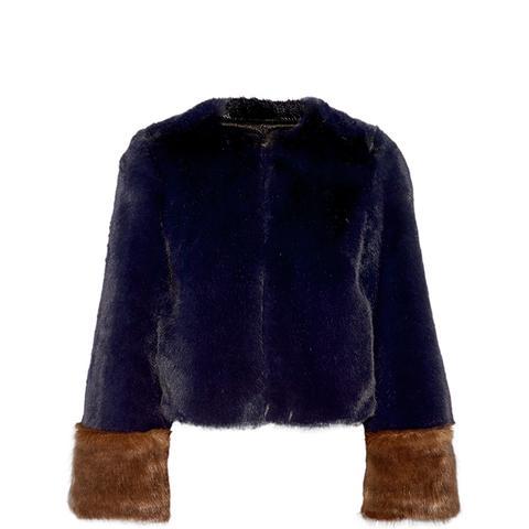 Juliette Two-Tone Faux-Fur Coat