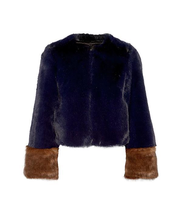 Juliette Two-tone Faux Fur Coat