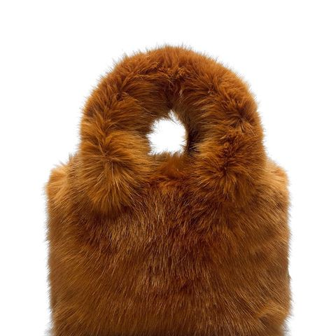 Margot Faux Shearling Tote