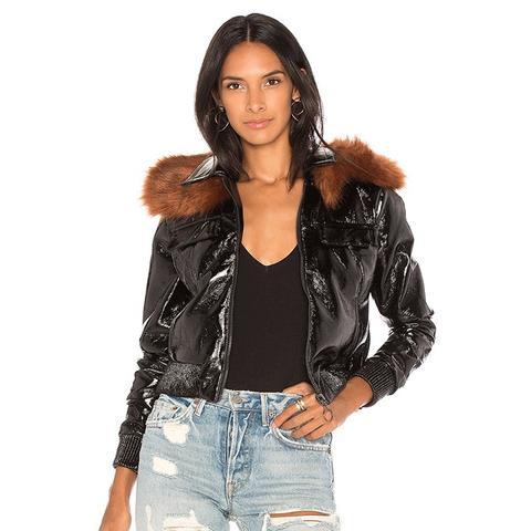 Flight Patent Leather Jacket
