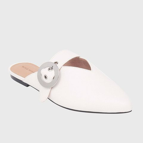 Story Buckle Detail Flat Mules