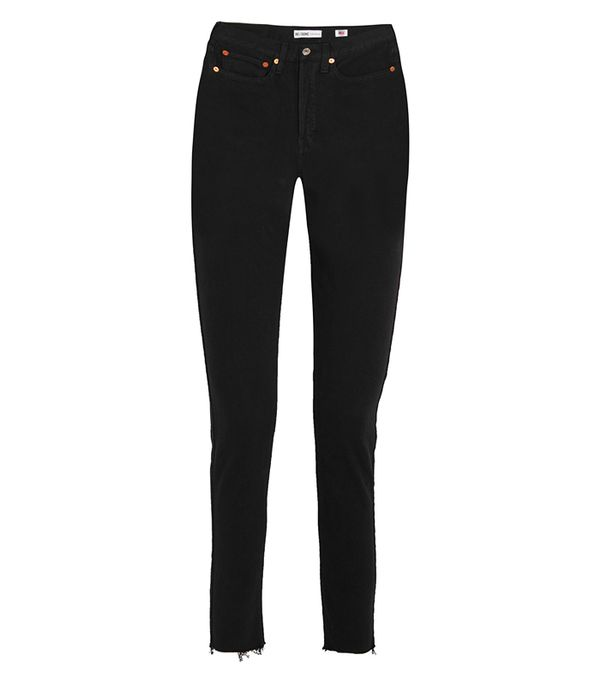 Originals High-rise Ankle Crop Frayed Skinny Jeans