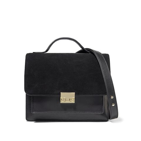 Rider Nubuck and Leather Shoulder Bag