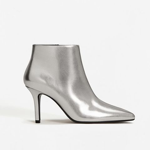 Metallic Finish Ankle Boots
