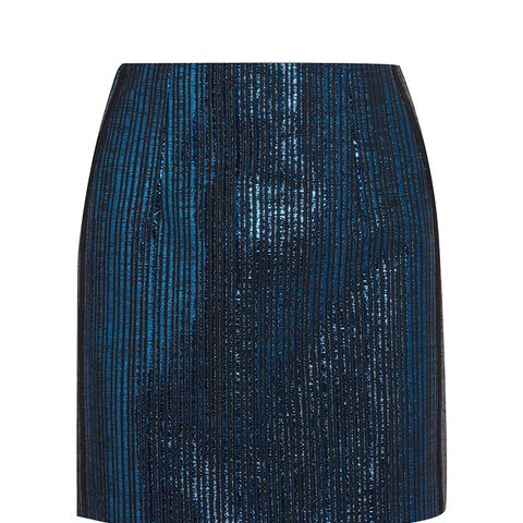 Lamé Mini Skirt