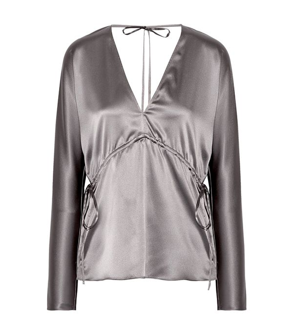 Ophelie Stretch-silk Satin Blouse