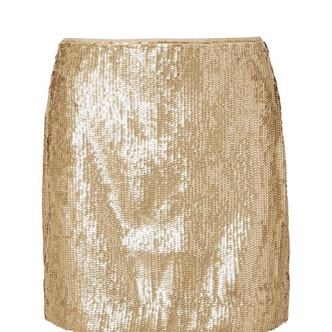 Sequined Crepe Mini Skirt