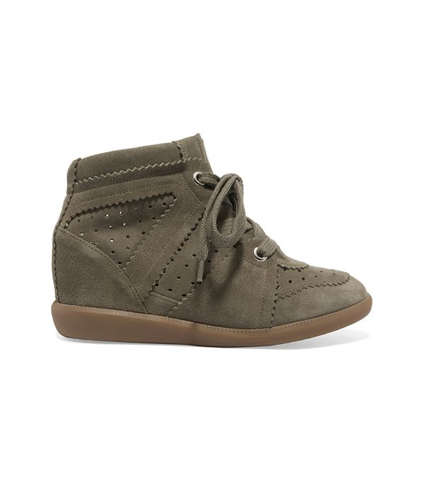 Étoile Isabel Marant Bobby Suede Wedge Sneakers