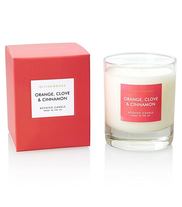 Winter candles: Oliver Bonas Orange, Clove & Cinnamon Scented Candle