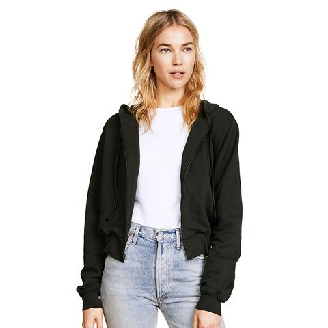 The Milan Cropped Zip Up Hoodie