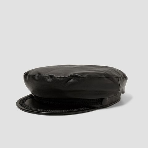 Leather Nautical Cap