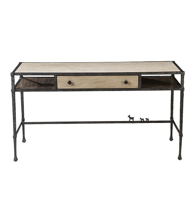 Thomasville Ellen DeGeneres Bonnabel Metal and Stone Desk