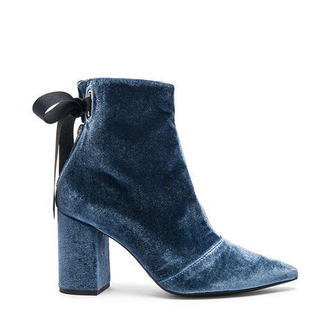 Robert Clergerie Velvet Karlit Boots
