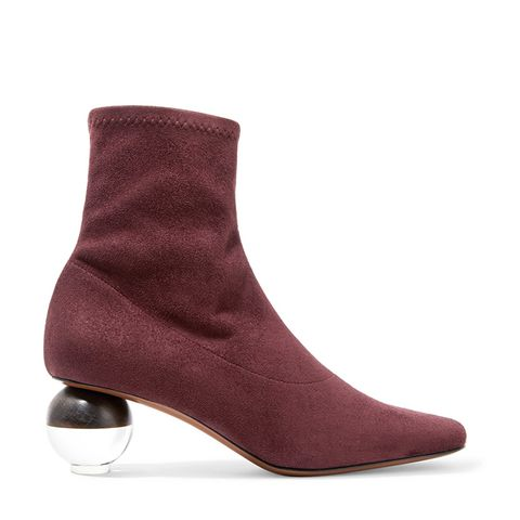 Sphere Stretch-Suede Sock Boots