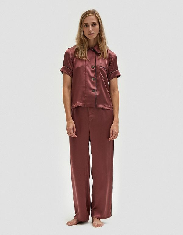 Ally Pajama Pant in Red