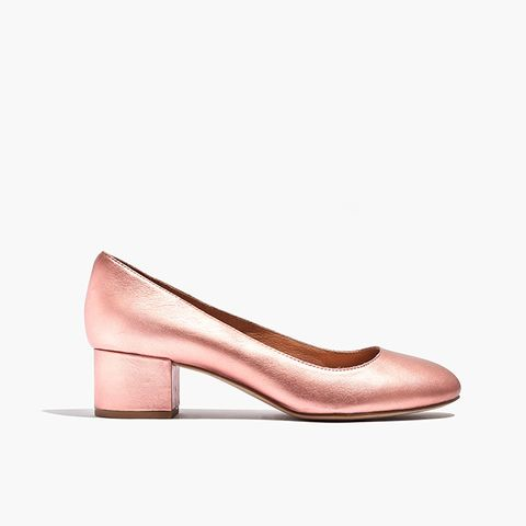 The Elle Pump in Metallic Blush