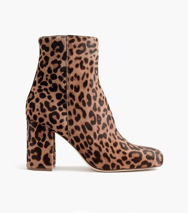 Calf hair zip boots