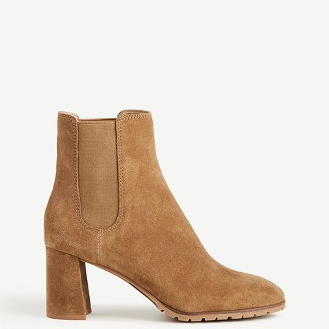 Ainsley Suede Heeled Booties
