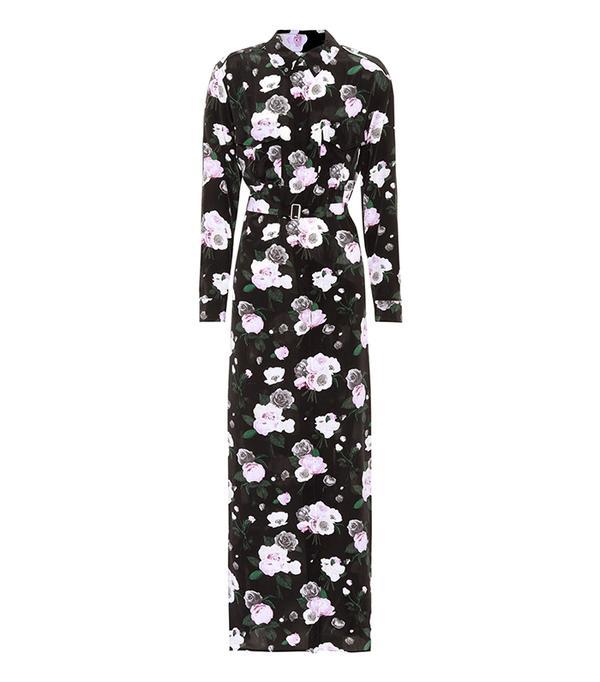 Major floral-printed silk dress