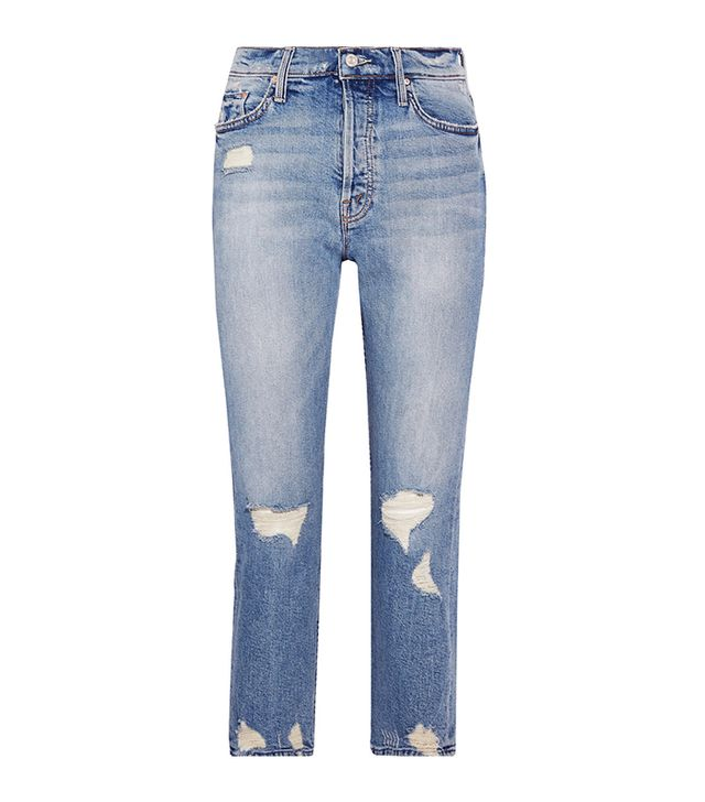 The Tomcat Distressed High-rise Straight-leg Jeans