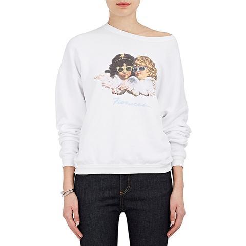 Vintage Angels Cotton Oversized Sweatshirt