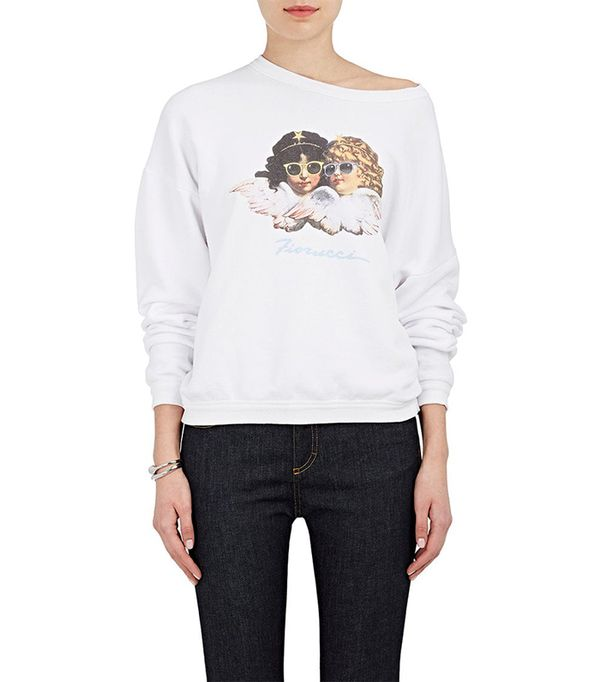 "Women's ""Vintage Angels"" Cotton Oversized Sweatshirt"