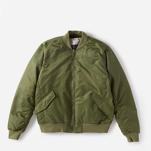 The Filled Nylon Bomber Jacket