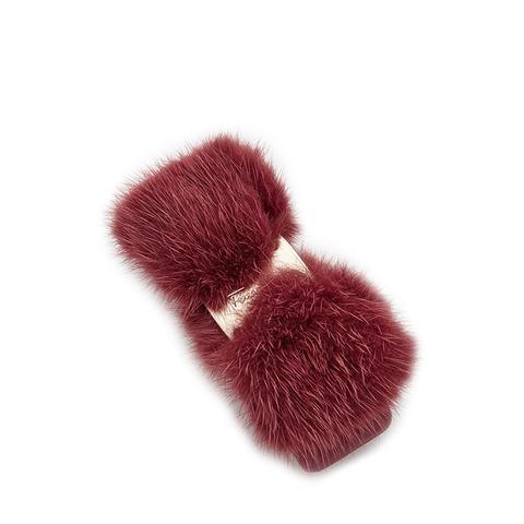 Fur Visone Bow Clip