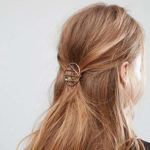 Open Circle Hair Clip