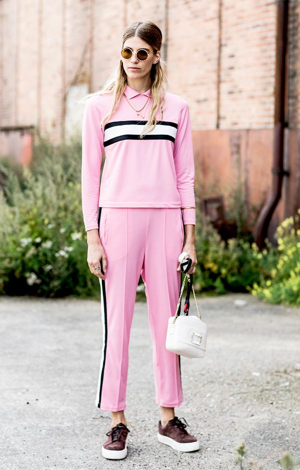Try this cool take on the tracksuit trend.