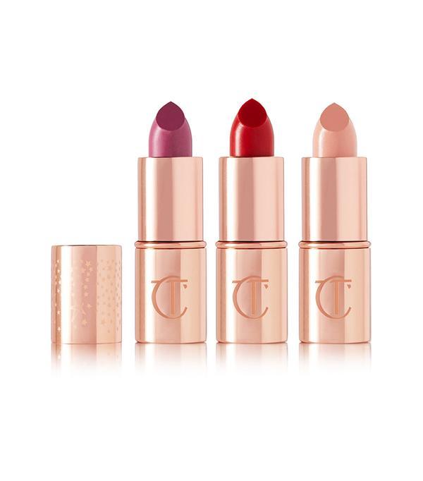 Lipstick gift sets: Charlotte Tilbury Hot Lips Mini Celebrity Trio