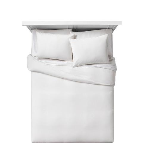 White Block Matelasse Duvet Cover Set