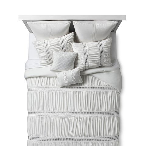 Ivory Texture Embroidered Odette Comforter Set 8pc