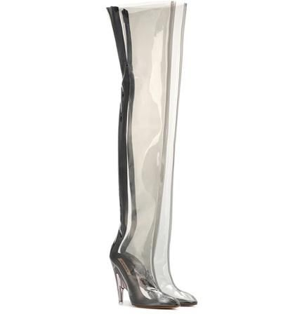 Tubular clear over-the-knee boots (SEASON 4)