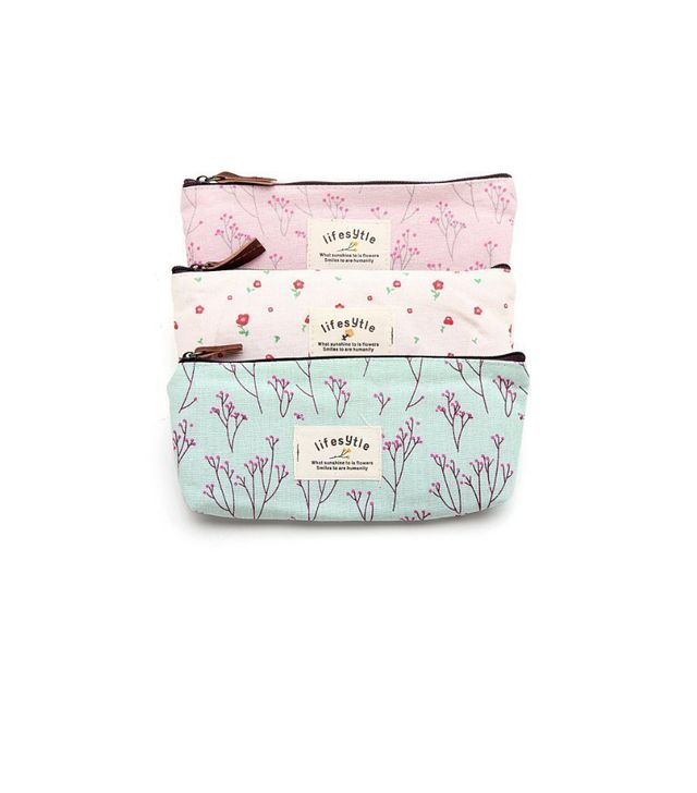 Miayon Countryside Flower Floral Pencil Pen Case Cosmetic Makeup