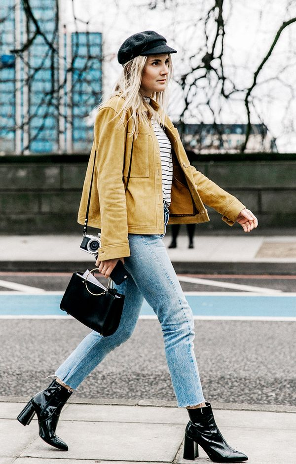 How to style skinny jeans with booties