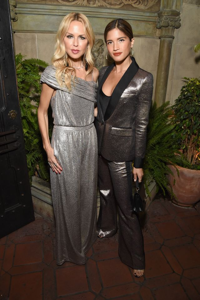 WHO: Rachel Zoe and Rocky Barnes WHAT: Rachel Zoe Winter Box of Style celebration at Chateau Marmont in Los Angeles WEAR: On Rachel Zoe: Rachel Zoe Resort 2018 Georgina Jumpsuit ($495); On Rocky...