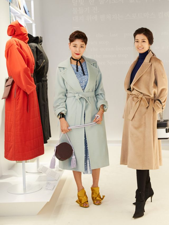 WHO: Byun Jung-soo and Bien Jeong-Min WHAT: Max Mara's Coats! exhibition at Dongdaemun Design Plaza in Seoil