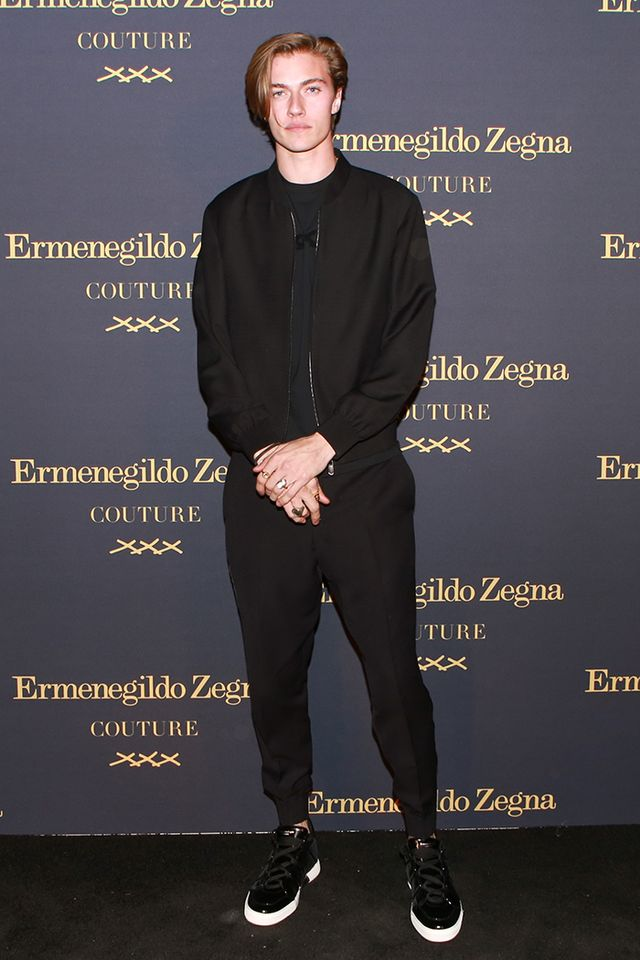 WHO: Lucky Blue Smith WHAT: Ermenegildo Zegna Couture XXX Collection launch celebration