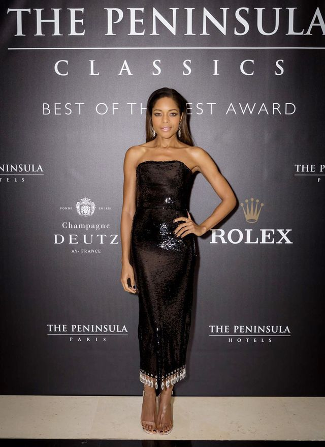 WHO: Naomie HarrisWHAT: Harris walked the red carpet at the 3rd Annual The Peninsula Classics Best of the Best Award in Paris WEAR: Arlington dress; Public Desire shoes