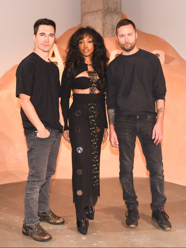 WHO: Lazaro Hernandez, SZA, Jack McCollough WHAT: Proenza Schouler celebrates the launch of its first fragrance, Arizona, during New York Fashion Week. WEAR: Proenza Schouler