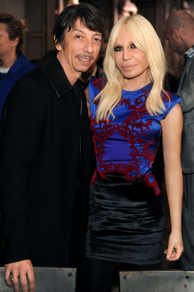 "WHO: Donatella Versace and Pierpaolo Piccioli WHAT: Lunch of the exhibition ""ITALIANA. Italy Through the Lens of Fashion"""