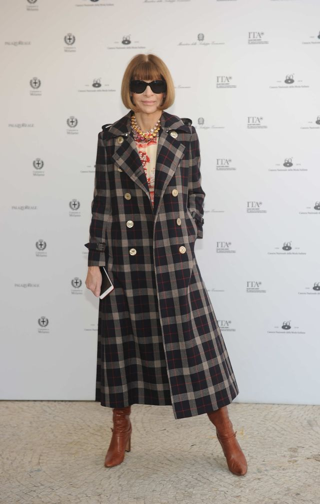 "WHO: Anna Wintour WHAT: Lunch of the exhibition ""ITALIANA. Italy Through the Lens of Fashion"""