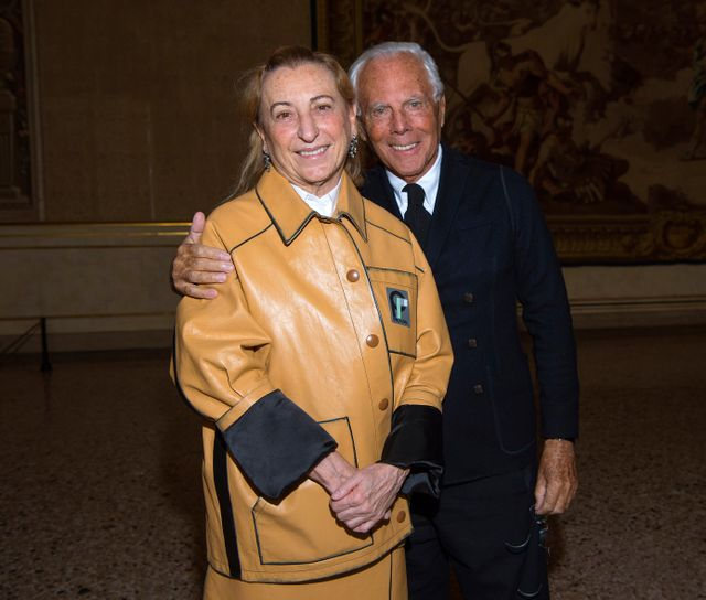 "WHO: Miuccia Prada and Giorgio Armani WHAT: Lunch of the exhibition ""ITALIANA. Italy Through the Lens of Fashion"""