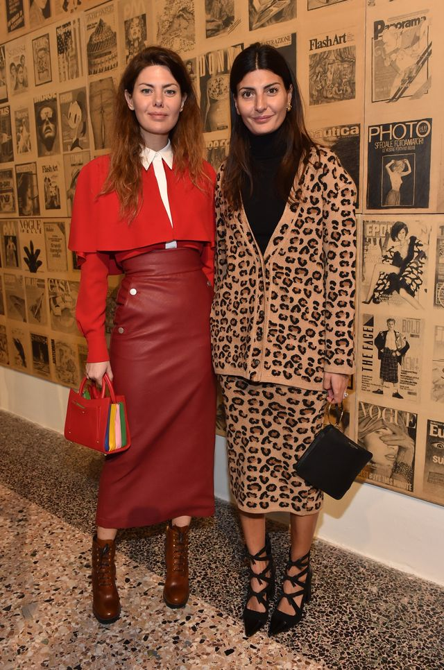 "WHO: Sara Battaglia & Giovanna Battaglia Englbert WHAT: Lunch of the exhibition ""ITALIANA. Italy Through the Lens of Fashion"" WEAR: On Giovanna Battaglia: Fabrizio Viti Take A..."